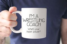 Gift For Wrestling Coach - Coach Birthday Gift - Personalized Coach Gift - Coffee Mug - Unique Gift Idea - Funny Gift - Coach Gift Idea