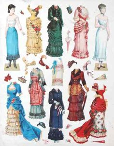 German vintage paper doll