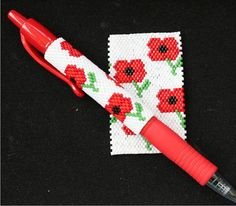 Hey, I found this really awesome Etsy listing at https://www.etsy.com/uk/listing/468589666/poppies-even-count-peyote-pen-cover