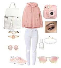 """""""Untitled #1"""" by edvinboakye ❤ liked on Polyvore featuring adidas Originals, Fujifilm, Monica Vinader, Accessorize, Mansur Gavriel, Essie and Ray-Ban"""