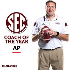 Congratulations to Coach Dan Mullen on being named the 2014 SEC Coach of the Year by the Associated Press. ‪#‎HailState‬
