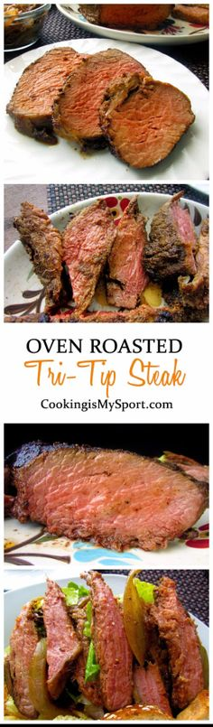 Oven Roasted Tri-Tip Steak – The Most Popular Recipes Tri Tip Steak Recipes, Beef Tri Tip, Roast Beef Recipes, Oven Recipes, Meat Recipes, Dinner Recipes, Cooking Recipes, Dinner Ideas, Recipies