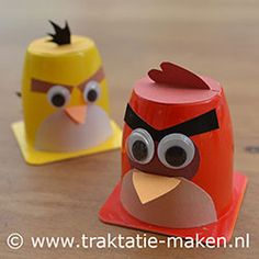 angry birds danoontje www. Angry Birds, Birthday Treats, Party Treats, Party Favors, Activities For Boys, Little Presents, Bird Crafts, Food Humor, Diy Crafts For Kids