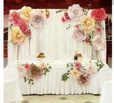 more color size DIY paper flower Backdrop for wedding custom paper flower wall Decoration Party Supplies Birthday Party Kids Paper Flower Backdrop Wedding, Paper Flower Wall, Wedding Backdrops, Wedding Paper, Party Backdrops, Paper Backdrop, Floral Backdrop, Wedding Flowers, Giant Paper Flowers
