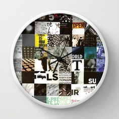 SOUL_Collage Wall Clock by Forbidden Designs - $30.00