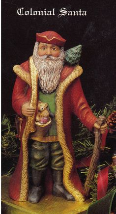 Collectable Santa Old World Santa Colonial Santa by TSoriginals