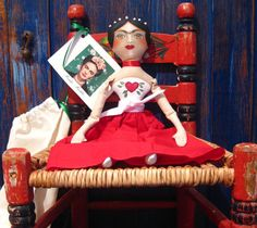 Sale Frida Kahlo Mexican Artist Cloth Doll by KatalinaTextiles