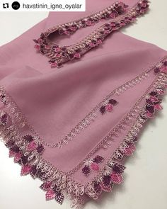 Embroidery Scarf, Embroidery Jewelry, Hand Embroidery, Crochet Borders, Filet Crochet, Knit Crochet, Knitted Poncho, Knitted Shawls, Knit Shoes