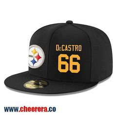 Pittsburgh Steelers #66 David DeCastro Snapback Cap NFL Player Black with Gold Number Hat