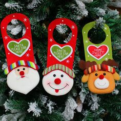 Snowman Santa Claus Elk Deer Toy Door Hanging Doll Christmas Decorations For Home Tree Ornament Kids Gift New Year Decoration