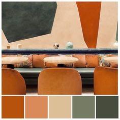 Pierre Hermé and L'Occitane's sensory experiment in Paris, Interior designer Laura Gonzalez utilised a soft colour palette inspired by Cezanne's painting Vintage Colour Palette, Orange Color Palettes, Earthy Color Palette, Colour Pallette, Colour Schemes, Vintage Colors, Vintage Ideas, Vintage Color Schemes, Pantone Colour Palettes