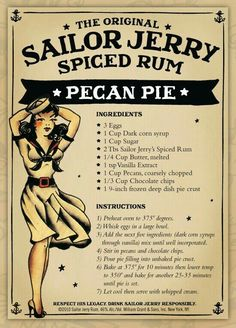 Sailor Jerry's Spiced Rum Pecan Pie