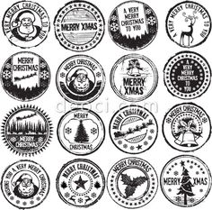 common seal template - corporate or company rubber stamp professional seals