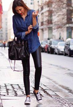 avec quoi porter une chemise en jean, pluie d'automne