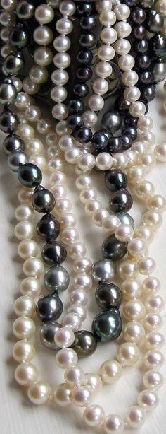Black, Silver, & White Pearls