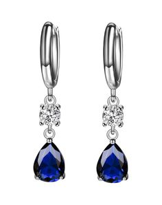 #AdoreWe #VIPme (VIPSHOP Global) CHING YING❤️Designer Accessories Blue Romantic Water Drop Gemstone Earrings - AdoreWe.com