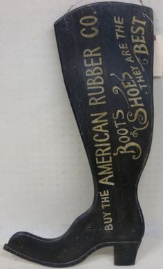Wooden figural shoe maker's sign in the form of a boot : Lot 170