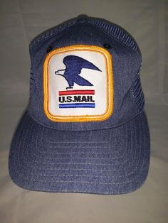 01b74f8c0f5 Vtg USPS Old Style U.S. Mail Mesh Hat Cap Postal Carrier Tupac Poetic  Justice