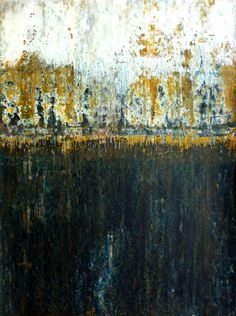 """Saatchi Online Artist: CHRISTIAN HETZEL; Acrylic, Painting """"abstract B64"""" - Something about this makes me feel Venice. I like it. I'd love to own this."""