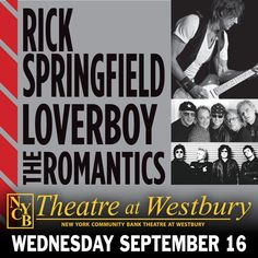 Enter for a chance to win 4 tickets and 4 lounge passes to Rick Springfield at NYCB Theatre at Westbury on September 16th!