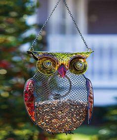 Harvest Shimmer Owl Bird Feeder #zulily #zulilyfinds
