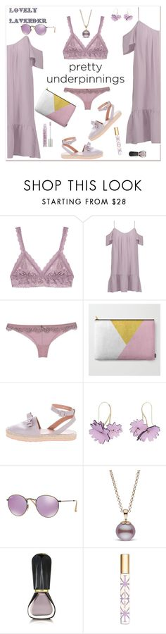 """""""The Prettiest Underpinnings"""" by ellie366 ❤ liked on Polyvore featuring Hanky Panky, Joie, Roberto Cavalli, RED Valentino, Marni, Ray-Ban, Oribe, Tory Burch, Urban Decay and espadrilles"""