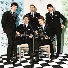 The Hollies in 1964: (from left) Allan Clarke, Graham Nash, Bobby Elliott, Tony Hicks and Eric Haydock