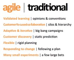 Agile Marketing, Not a Fad, a Necessity.     http://www.slideshare.net/ericsangerma/agile-marketing-not-a-fad-a-necessity-14498540/37