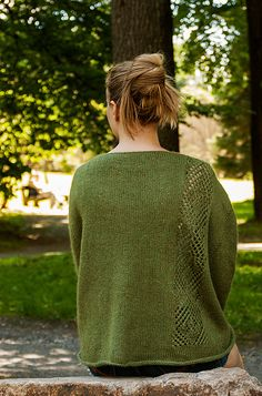 Aurora Australis: Over-sized jumper for summer evenings. Notice the details in the pattern.