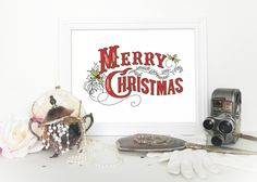 A personal favorite from my Etsy shop https://www.etsy.com/listing/255621143/christmas-decor-wall-art-printable-decor