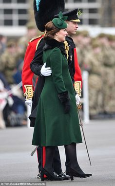William, Duke of Cambridge (pictured with Kate), is the Colonel of the Irish Guards...