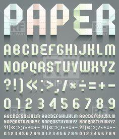 paper letter font - Google Search