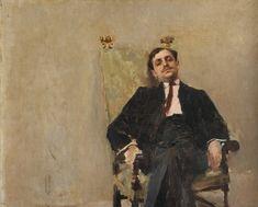 "Carlos Federico Sáez: ""Portrait of Mr. Juan Carlos Muñoz"", 1899, oil on canvas, Dimension: 50 × 61 cm (19.7 × 24 in), Current location: Institution: National Museum of Visual Arts. Montevideo, Uruguay."