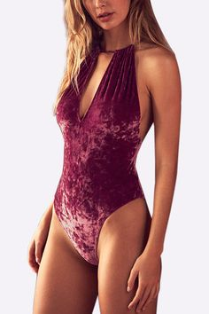 Be a hot sexy beauty with the help of the sexy cut out straps bodysuit. You could pair this boodysuit with a stunning cover up or a kimono and get that beach babe look.