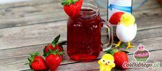 Przepis na Drinka z truskawkami i rumem Hot Sauce Bottles, Rum, Mason Jars, Tableware, Food, Dinnerware, Tablewares, Essen, Mason Jar