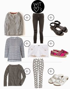 WIT mama Friday: 3 stripe T-shirt quick outfit ideas