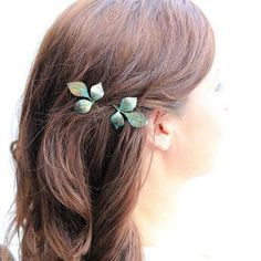 Retro Metal Leaf Pattern Hairpin For Women    (ONE PIECE)