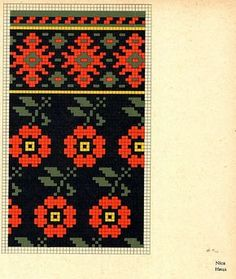 Mittens FolkCostume&Embroidery: Knitted Mittens of Nica, Kurzeme province, Latvia Tapestry Crochet Patterns, Fair Isle Knitting Patterns, Bead Loom Patterns, Knitting Charts, Knitting Stitches, Knitting Designs, Knitting Projects, Cross Stitch Patterns, Mittens Pattern