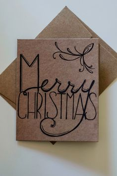 #handlettered Christmas greeting card #typography #christmas