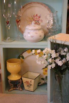teal vintage drawers