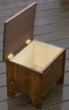 The RunnerDuck Storage Stool, step by step instructions on how to make a small foot stool that has storage inside. This would make a great toddler stool.