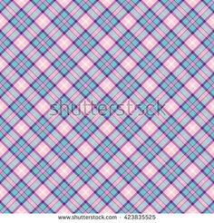 Seamless wall-paper plaid, pink-azure. A classical pattern with rhombuses, a bright print for fabric, greeting cards, packing paper. Basis for design.