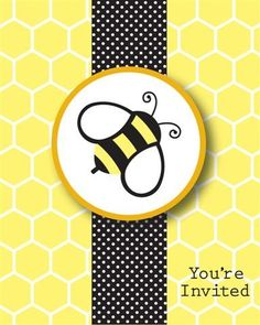Bee Baby Shower Invitations