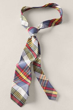 """madras tie. for when you have to wear a tie, but don't want to feel """"worky"""""""