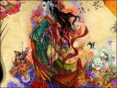 asian art geishas | Wallpapers Digital Art > Wallpapers Style Asian Living Geisha by snyp ...