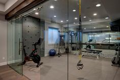 32 Home Gym Ideas | How to Make a Home Gym in Any Space | HGTV Basement Workout Room, Home Gym Basement, Gym Room At Home, Modern Basement, Workout Rooms, Basement Remodeling, Basement Ideas, Basement Makeover, Basement Storage