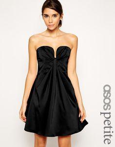 ASOS PETITE Bandeau Mini Dress with Twist Plunge