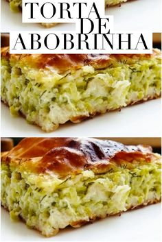Zucchini pie may seem strange, but it is delicious, what has the spice and the way to do it. Fun Easy Recipes, Veggie Recipes, Vegetarian Recipes, Easy Meals, Cooking Recipes, Healthy Recipes, Breakfast Recipes, Good Food, Food And Drink