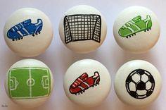 Möbelgriffe -  Möbelknöpfe Fußball 3-er Set - ein Designerstück von SuAn-Bilder bei DaWanda