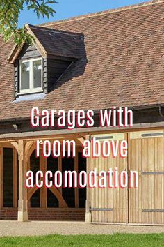 A look at converted garages and how you ca create a room above them to maximise space and create additional room in your home. Some gorgeous examples. Interior Fit Out, Interior And Exterior, Garage With Room Above, Oak Framed Buildings, Add A Room, Converted Garage, Contemporary Barn, Maximize Space, Exterior Lighting